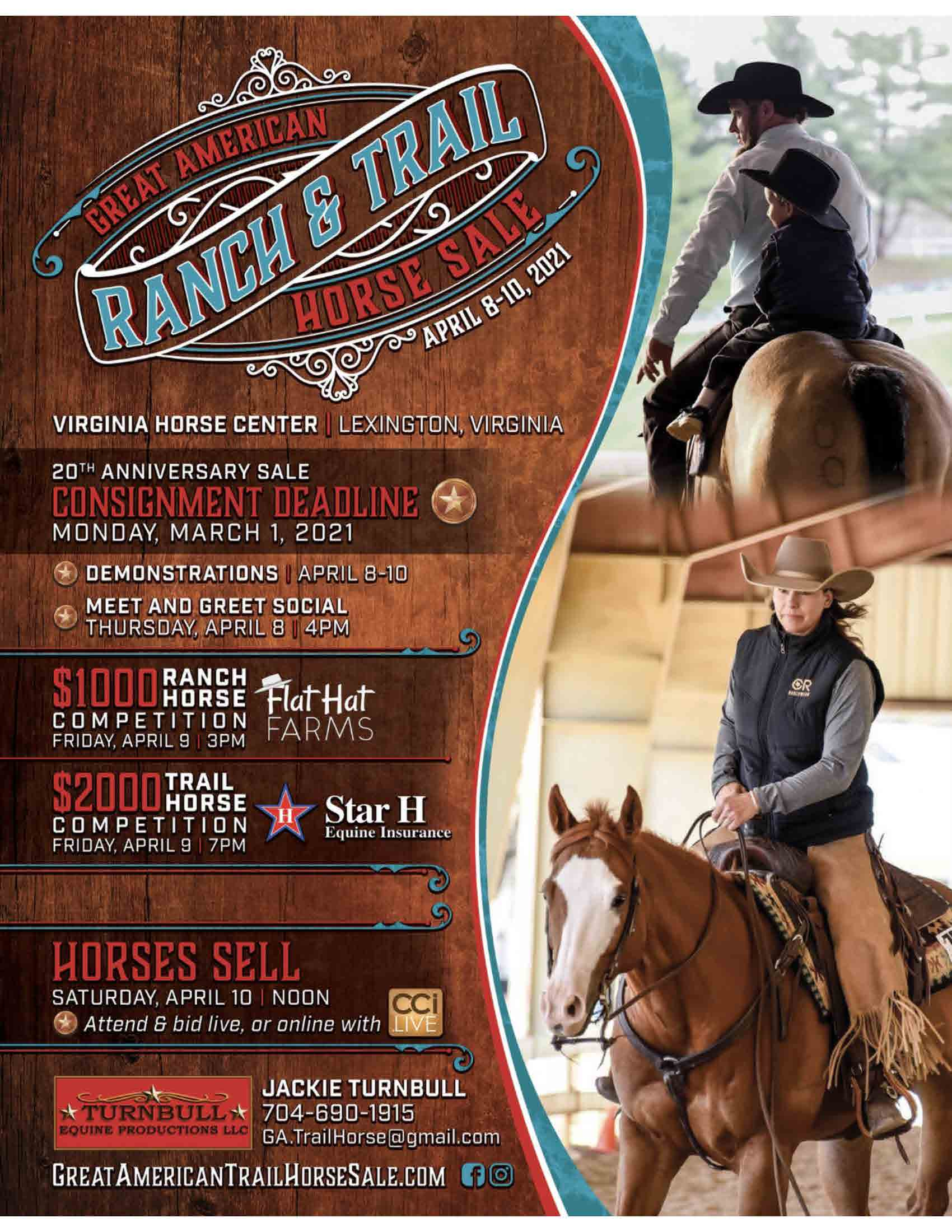 Great American Ranch and Trail Horse Sale 2021 photo